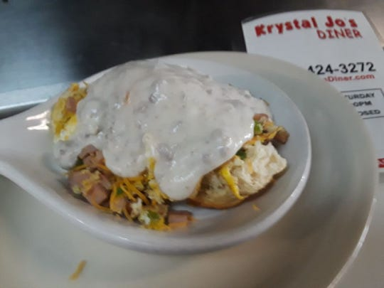 A favorite local dive, Krystal Jo's Diner in Flint offers a variety of breakfast foods.