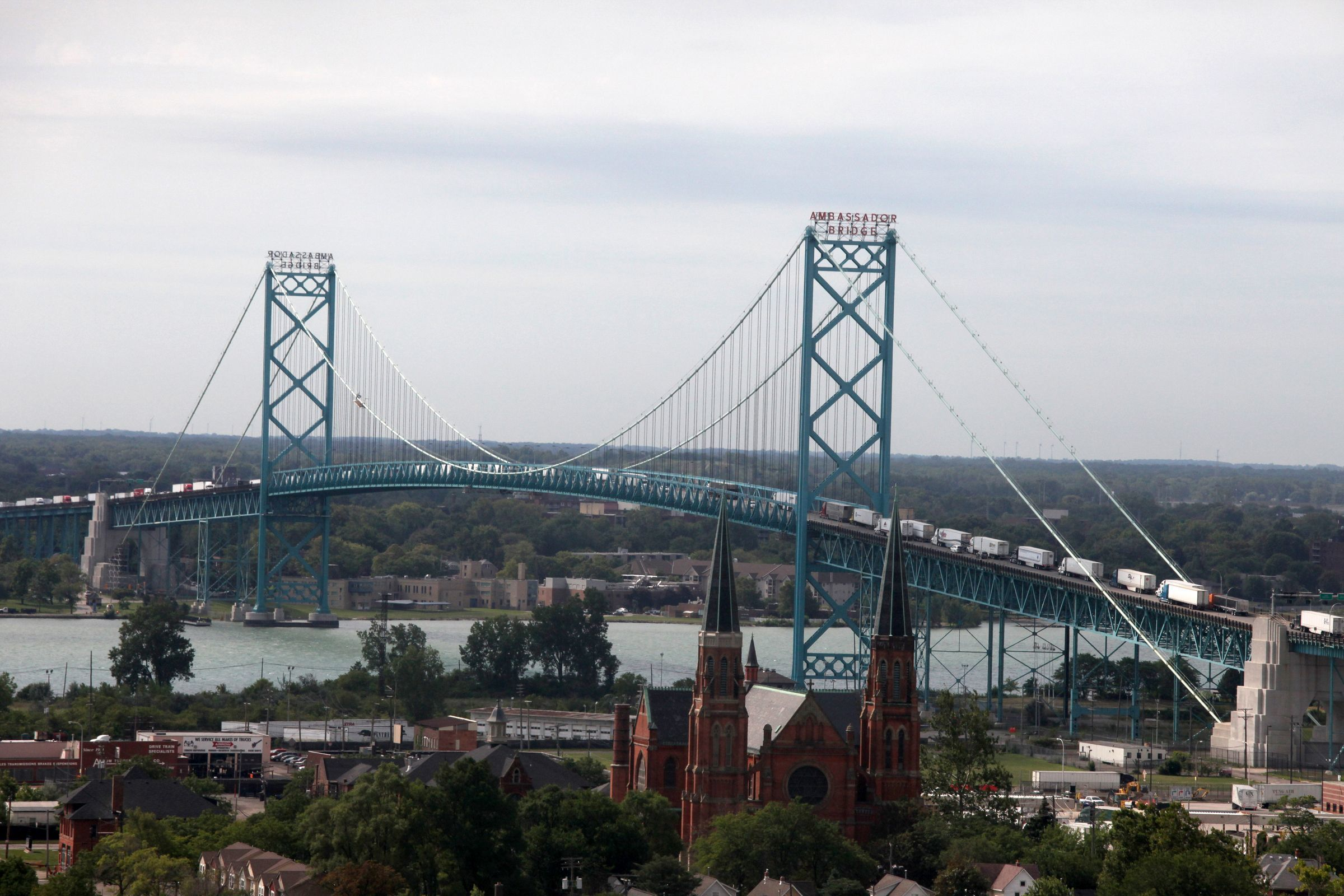 The Ambassador Bridge is one of the busiest border crossings in North America.