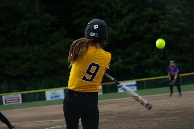 Southeast's Audrey Mills hit a two-run home run to right against Central during their Senior Softball Little League World Series game.