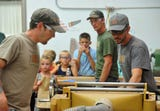 Local business the Good Wood Guys reach out the community through sawmill demonstrations and tours.