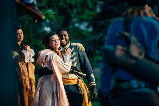 """Montana Shakespeare in the Parks performs """"Othello"""" on Wednesday, June 13, 2018, at the Montana State University Duck Pond in Bozeman."""