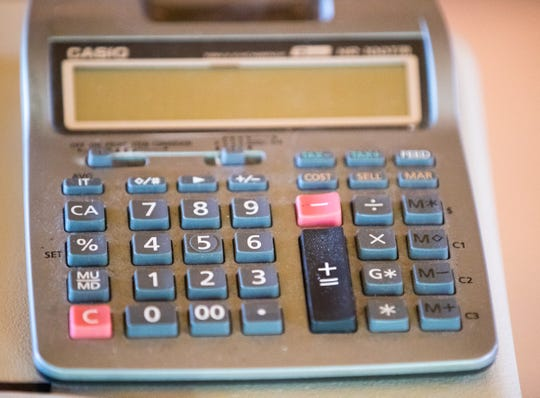 An adding machine used by Rick Sherwood to crack codes during his investigation of D.B. Cooper.