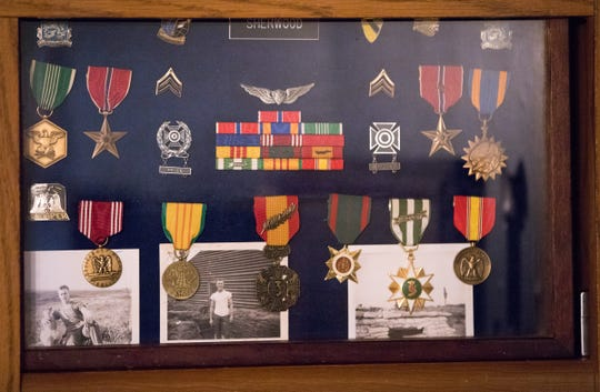 Army medals from Rick Wheatfield, Tuesday, July 17, 2018. Sherwood did not know the person called D.B. Cooper, but they served in the same Army unit in Vietnam, and Sherwood used code breaking tricks he learned during his time there to identify a San Diego man he says is actually Cooper.