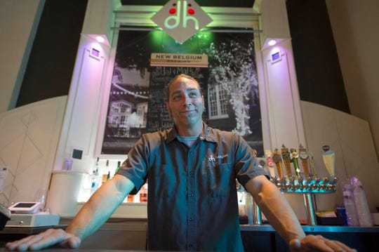 Kurt Monaghan stands behind the bar at Duling Hall in Fondren. Monaghan has been a bartender for over two decades and was recently voted 'Best Bartender in Jackson.' Monday, July 31, 2018.