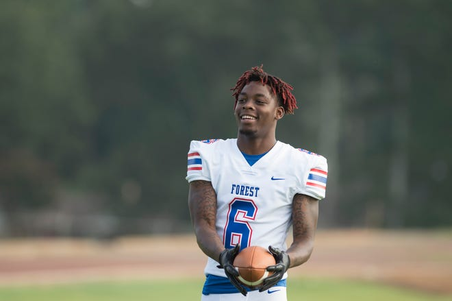 Forest High School outside linebacker Diwun Black completed his junior season with 83 total tackles, 304 receiving yards and four touchdowns. Black is a top prospect for the 2019 recruiting class. Thursday, July 18, 2018.