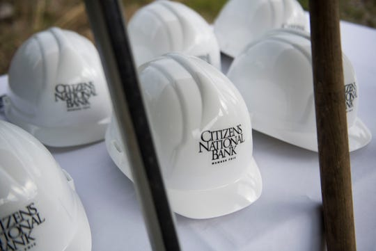 Shovels and hardhats stand at the ready at a groundbreaking for Watson Glades, a new affordable housing complex in Sevier County.