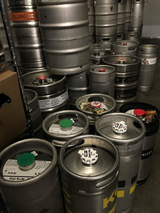 Various guest IPA kegs ready to be tapped for IPA Day.