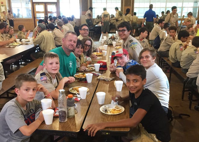 Troop 234 at dinner.