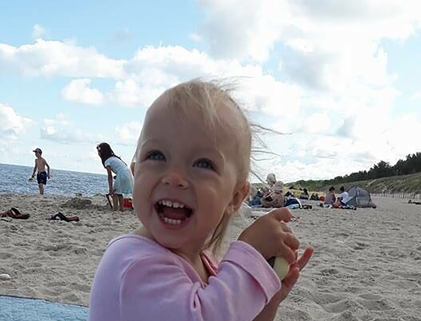 "Kenneth Karwan of Naples writes, ""This is my great niece Laura frolicking in the sun."""