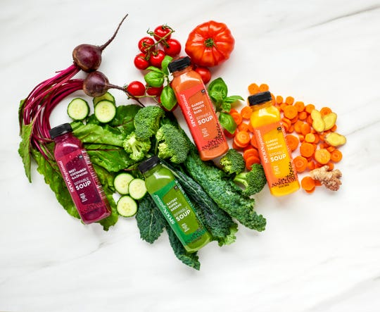 Spoon Optional's drinkable soups are made with organic fruits and vegetables.