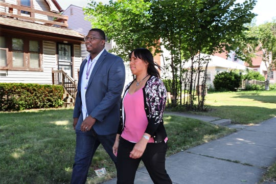 Carnelius Russell (left) and Theresa Barnett are psychiatric clinicians in Milwaukee assigned to the Trauma Response Team, a city-county partnership. They work out of various locations, including Owen's Place.