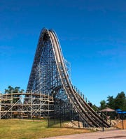 The Hades 360 coaster at Mount Olympus in Wisconsin Dells.