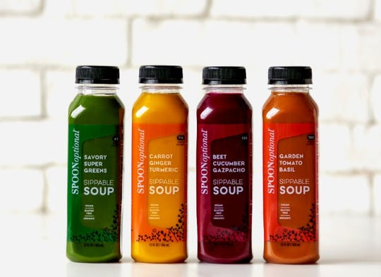 Spoon Optional soups in a bottle come in a rainbow of colors.