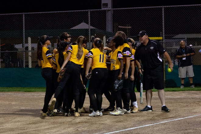 The District 9 Senior Little League softball team beat Canada 6-4 in its first game of the 2018 Little League World Series on Monday night in Roxana, Delaware.