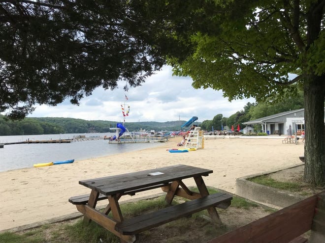 Lake Forest in Jefferson Township, N.J., as seen on July 31, 2018, is one of the region's few private lake communities that was created for year-round residents.
