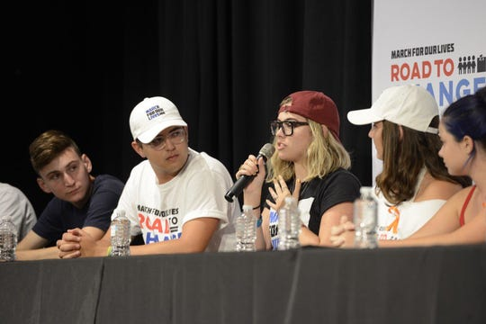Parkland students with March for Our Lives host a town hall Monday, July 30, 2018, at the University of West Florida.