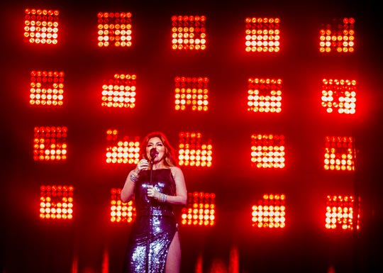 Shania Twain performs on July 30, 2018, during the Shania Twain: NOW concert at Talking Stick Resort Arena in Phoenix, Arizona.