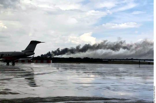 Un avión sufrió un accidente poco después de despegar del Aeropuerto Guadalupe Victoria en Durango.