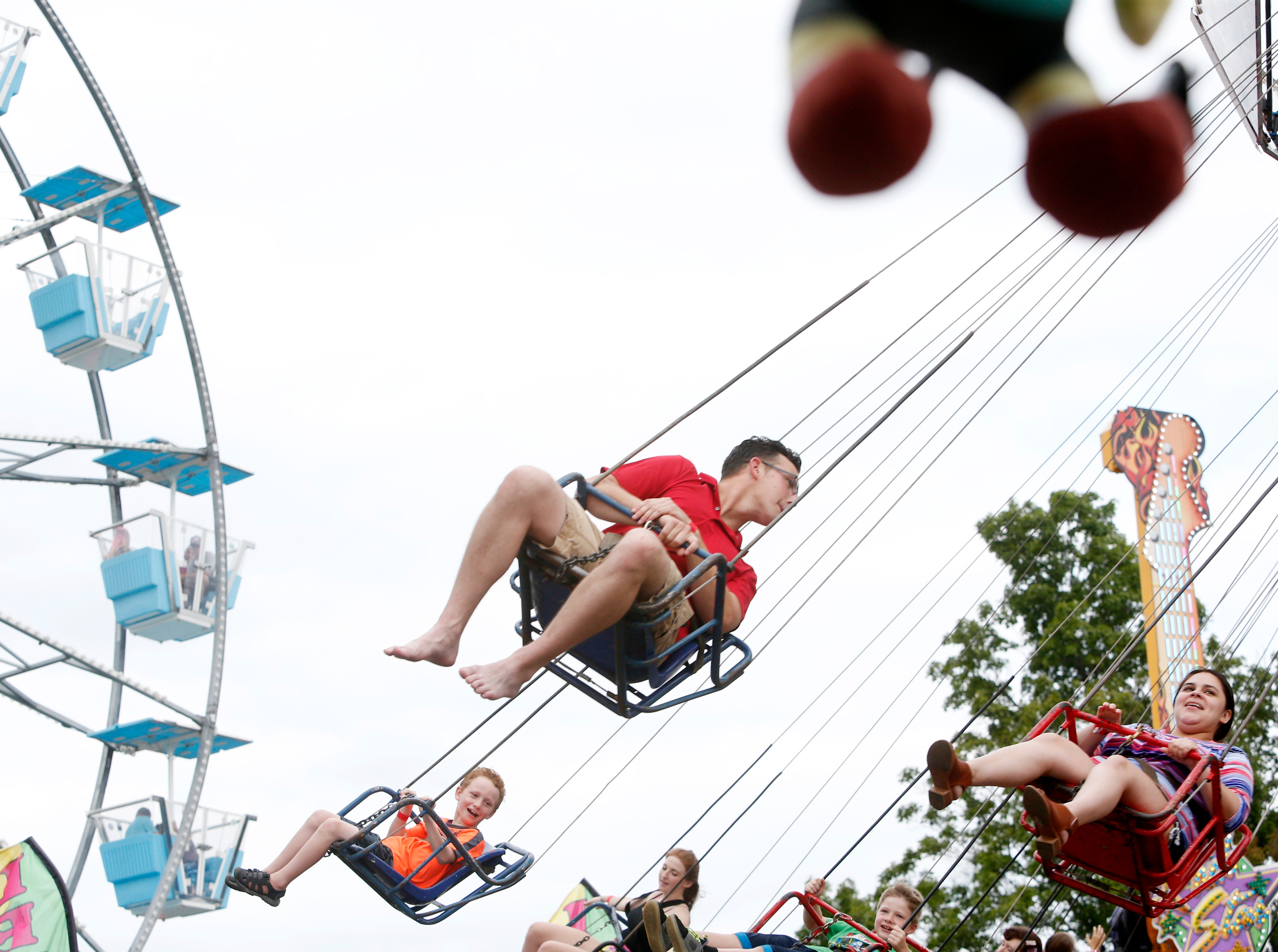 The swings during opening day at the Ulster County Fair in New Paltz on July 31, 2018.