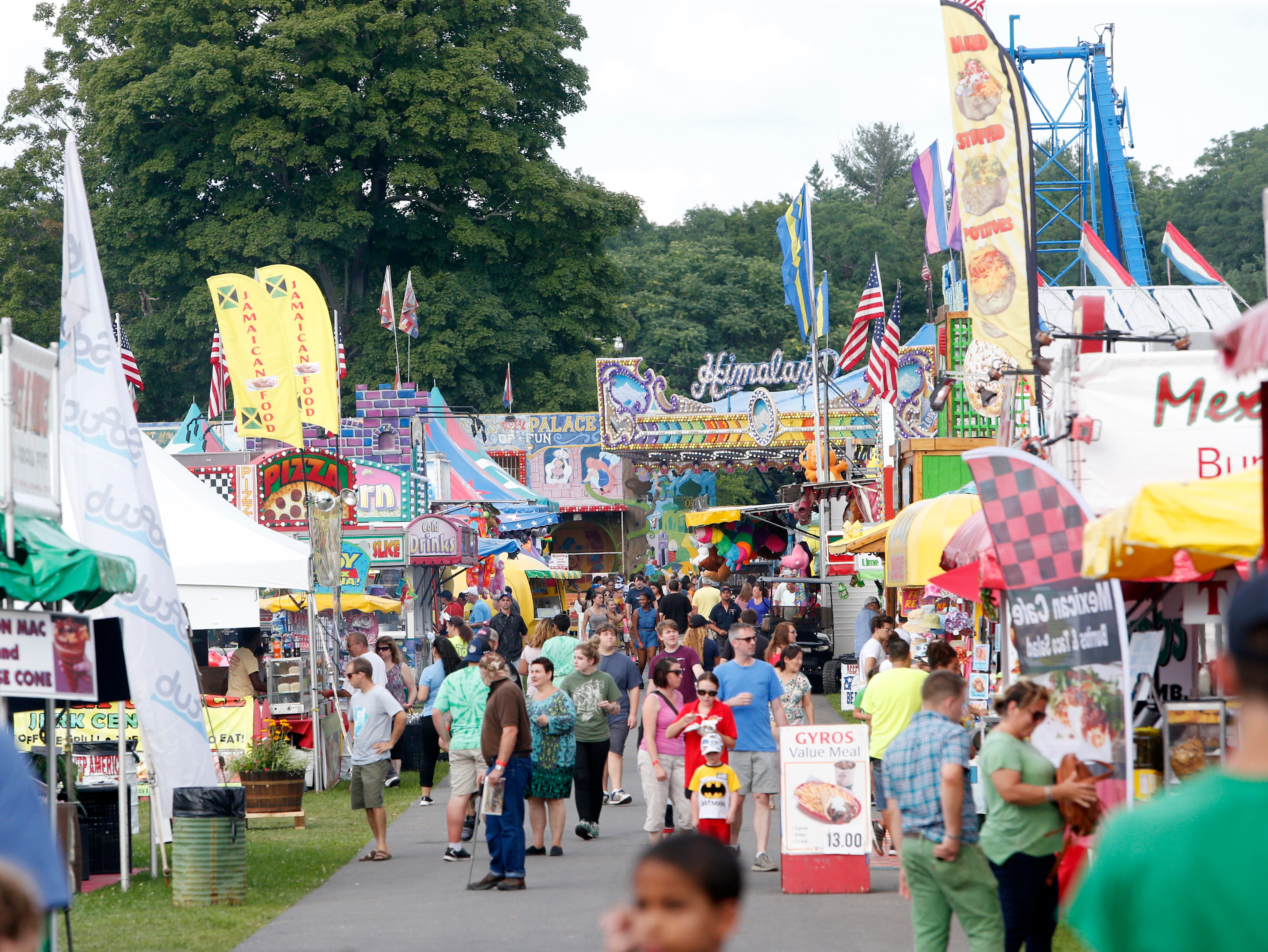 Opening day at the during the Ulster County Fair in New Paltz on July 31, 2018.