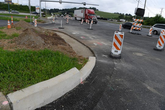As with most of the Mount Rose Avenue construction, curbs, sidewalks and blacktop remains uncompleted at the intersection of Haines Rd. and Camp Betty Washington Rd., Tuesday, July 31, 2018.  John A. Pavoncello