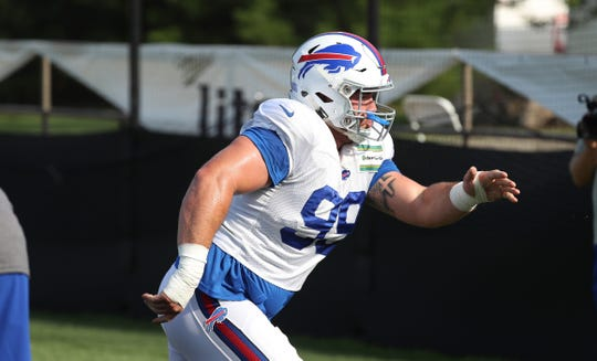 Bills rookie defensive lineman Harrison Phillips during training camp.