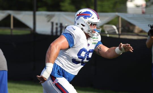 Bills rookie defensive lineman Harrison Phillips during training camp.
