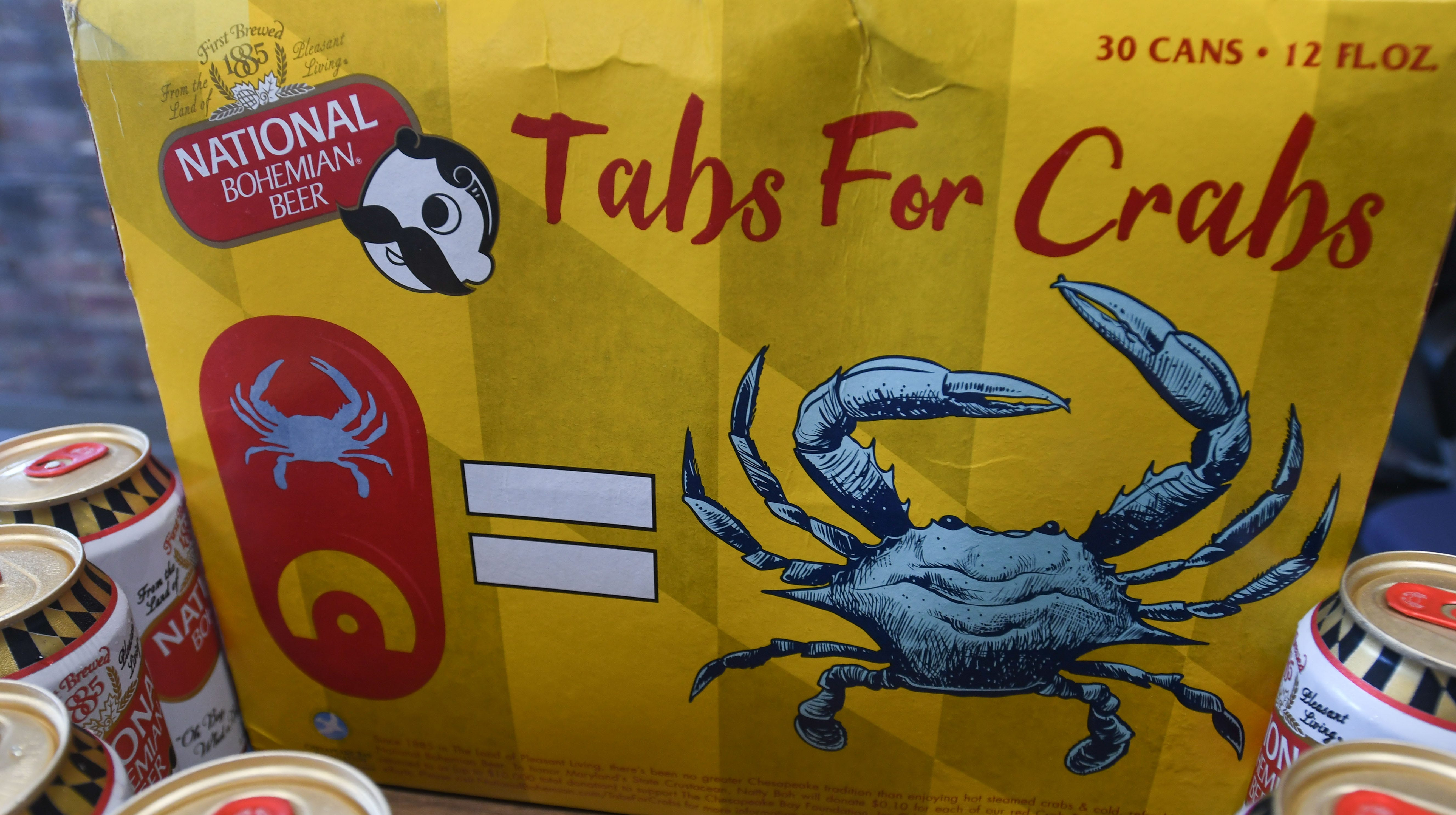 National Bohemian Beer Company announced Tuesday the roll out of its second annual summer Tabs for Crabs program. For each red, crab-etched can tab that is collected and returned before Oct.1, National Bohemian will donate 10 cents to The Chesapeake Bay Foundation'slocal blue crab research and habitat restoration efforts, with a total maximum donation goal of $10,000, according to a news release.