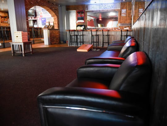 The Press Bar's remodeled bar and lounge area upstairs is shown Tuesday, July 31, in St. Cloud.