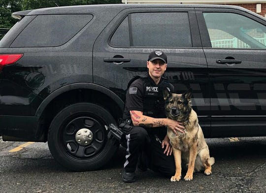 K-9 Robi will perform his last demonstration before retirement at Westampton's National Night Out with his partner, Officer Shaun Welthy.
