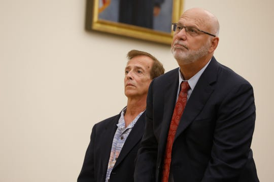 Joseph Lewin appears in the Rockland County Courthouse with his attorney, David Goldstein, on July 31, 2018.