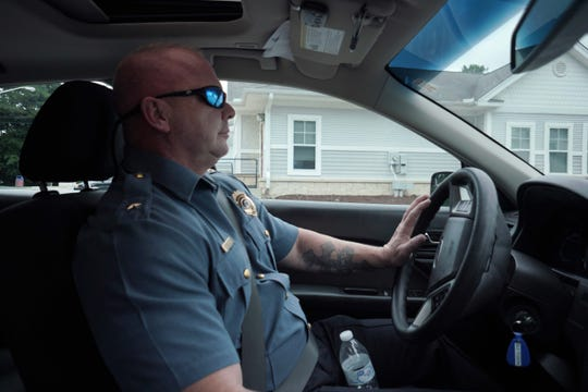 Laurel Police Chief Dan Wright, a former Delaware State Police officer, patrols the small community of Laurel that has been plagued by the opioid epidemic that he is battling with a small force of dedicated officers.