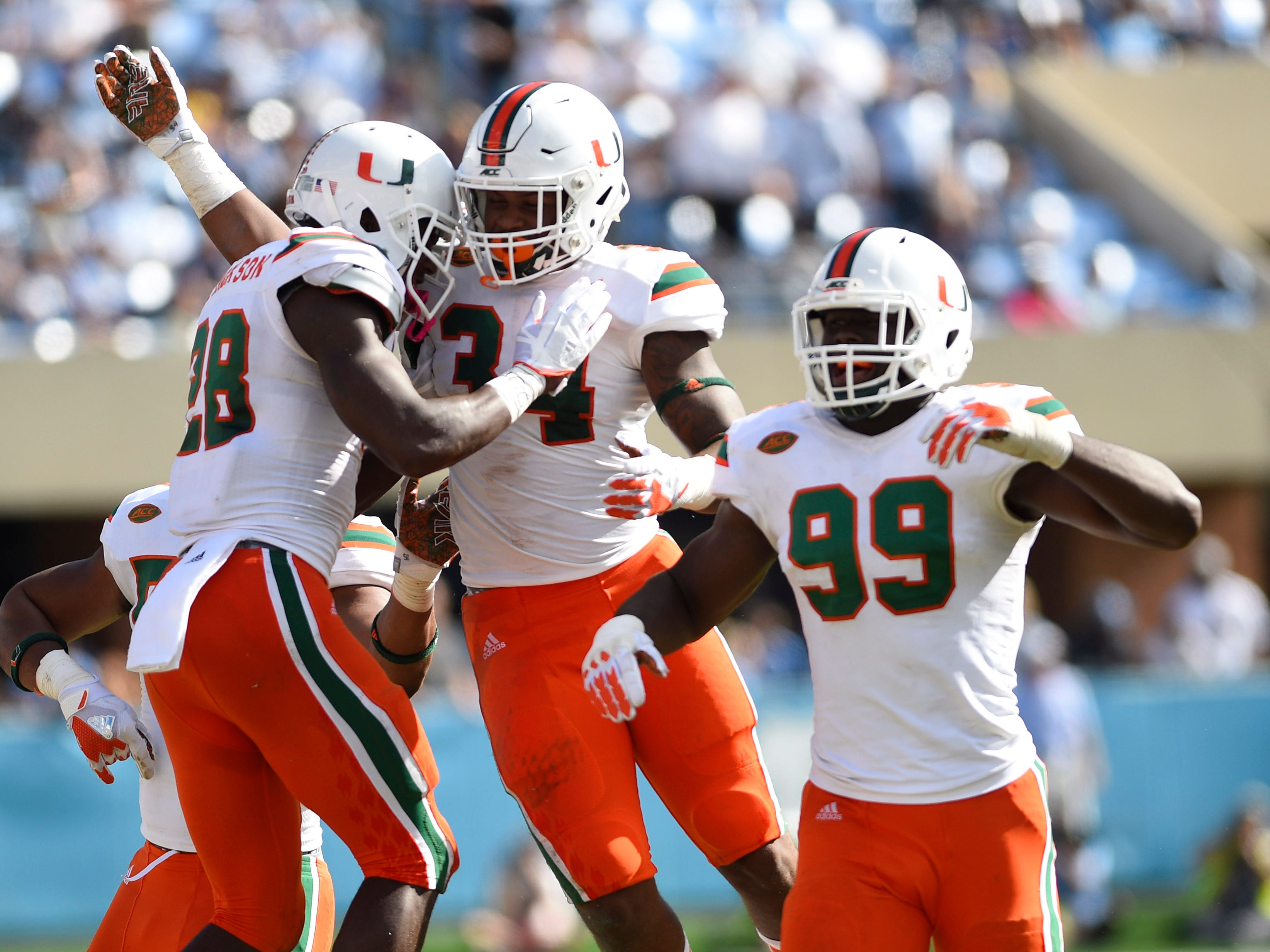 No. 8 Miami Hurricanes (10-3 in 2017).