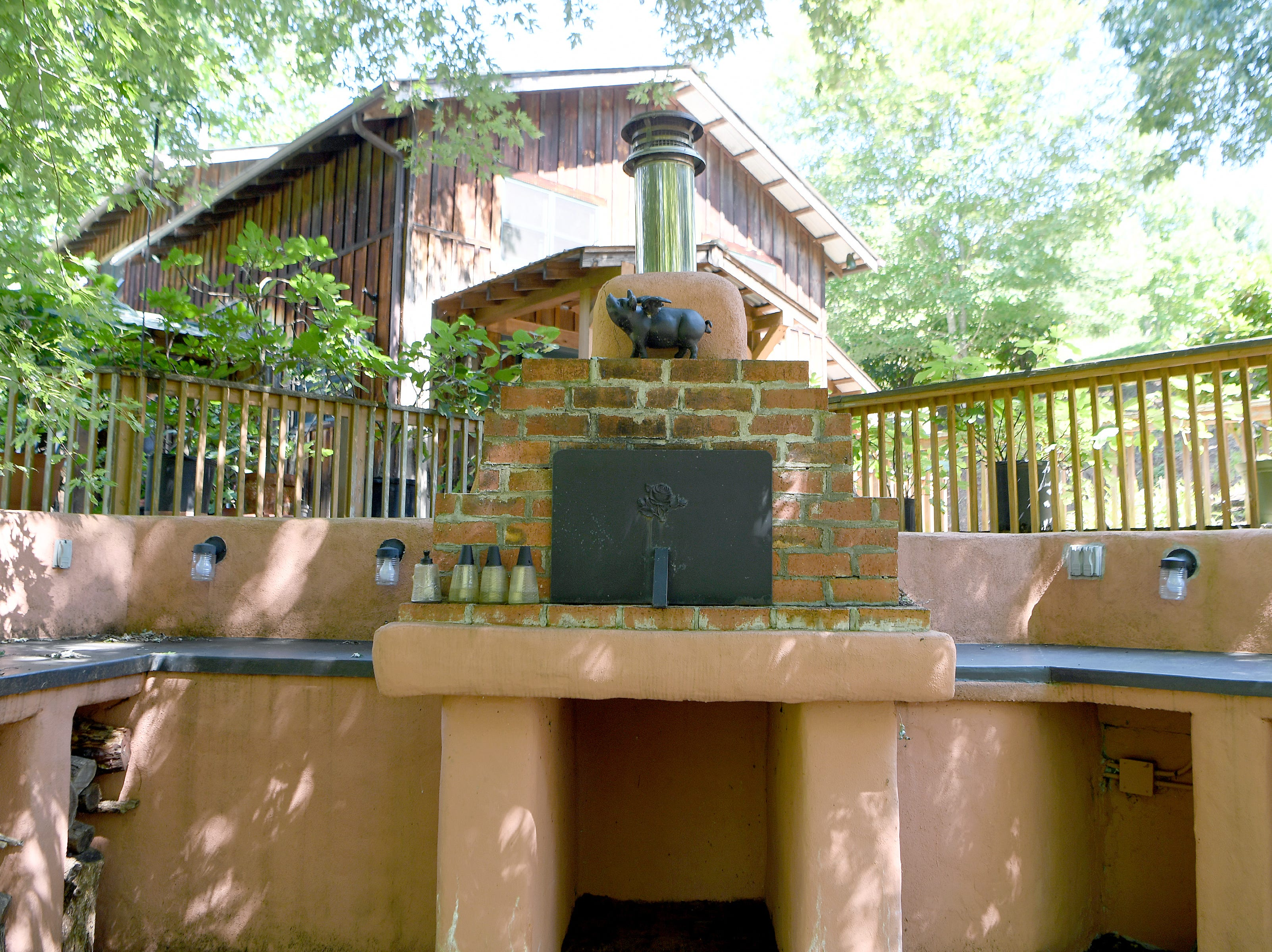 A large outdoor pizza oven at Ricardo Fernandez's main house in Clyde where the chef teaches culinary experiences, including pizza making.