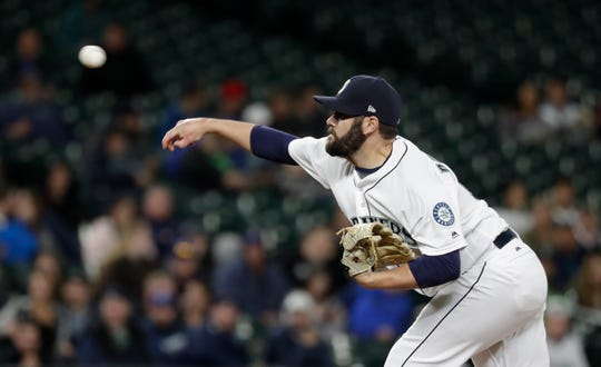 Mariners reliever Chasen Bradford is 5-0 with a 2.70 ERA in 34 appearances and 40 innings, but he was sent to Triple-A Tacoma on Wednesday.
