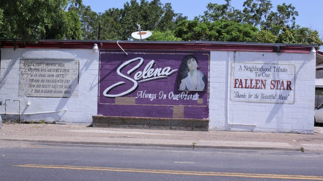 The Selena mural was dedicated to the singer shortly after her death in 1995.