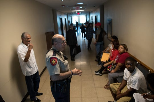 People are told the Nueces county courthouse is being closed after loosing power on Wednesday, Aug. 1, 2018.