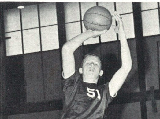 Burt Hooton also played varsity basketball at King High School, as seen in this image from the 1968 King yearbook.