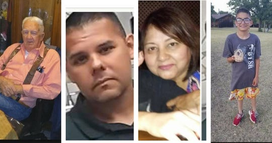 Ernest Starry, 85, Roel Mireles, 41, Thelma Montalvo, 60, and Isaiah Starry, 13, were fatally shot in Robstown on July 27, 2018.