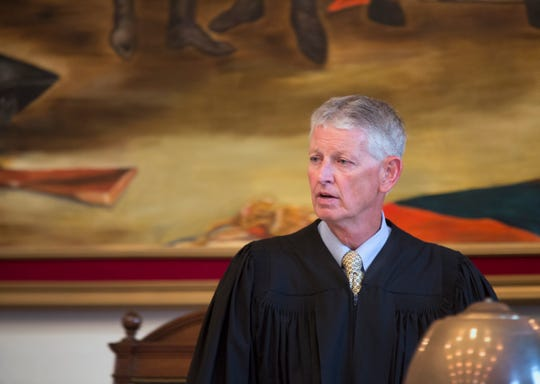"""Hamilton Common Pleas Judge Patrick T. Dinkelacker is the presiding judge in the re-sentencing for convicted serial killer Anthony Kirkland, 49, in the deaths of  Casonya """"Sharee"""" Crawford, 14, in 2006 and Esme Kenney, 13, in 2009. Hamilton County Prosecutor Joe Deters is once again asking for the death penalty. Kirkland has admitted killing these two women and three others. In all the cases, he burned their bodies."""