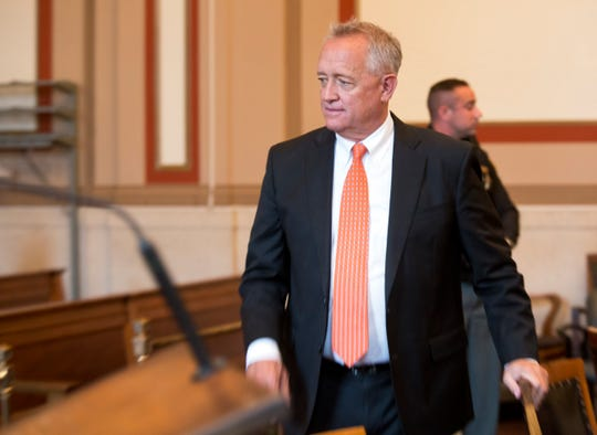 "Hamilton County Prosecutor Joe Deters prior to the re-sentencing of convicted serial killer Anthony Kirkland, 49, in the deaths of Casonya ""Sharee"" Crawford, 14, in 2006 and Esme Kenney, 13, in 2009. Hamilton Common Pleas Judge Patrick T. Dinkelacker is the presiding judge. Deters is once again asking for the death penalty. Kirkland has admitted killing these two women and three others. In all the cases, he burned their bodies."