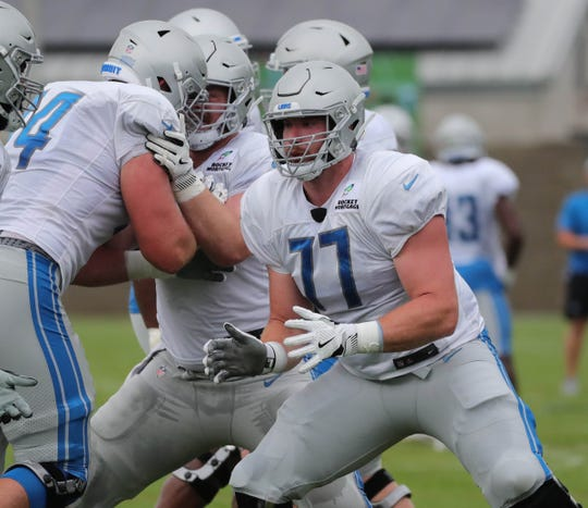 Lions rookie left guard Frank Ragnow.