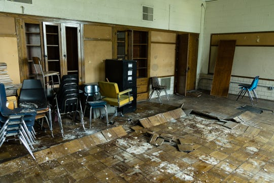A classroom inside the defunct elementary school that houses Total Life Change Ministries on Detroit's west side, as seen on Wednesday, July 4, 2018.