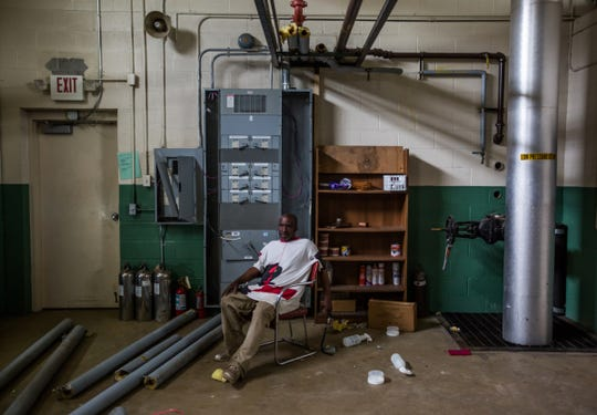 """""""Seems like just when you're getting to the point where everything seems to be all right, you get hit by a big boom,"""" said Elder Nathaniel Benson, 66, while sitting among scattered foam tubing that once covered copper piping, which was stolen from the boiler room of Total Life Change Ministries on Detroit's west side. """"It really going to take an act of god to recover from this unless somebody knows somebody that's going to be willing to help."""""""