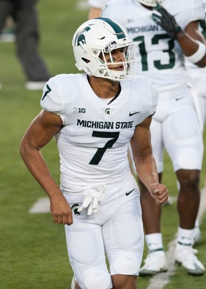 Michigan State wide receiver Cody White played four sports at Walled Lake Western High School.