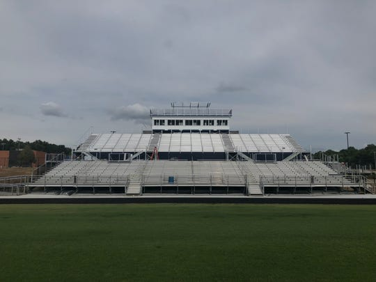Heritage Hills' football stadium nearly doubled its capacity by installing new bleachers, among other renovations.