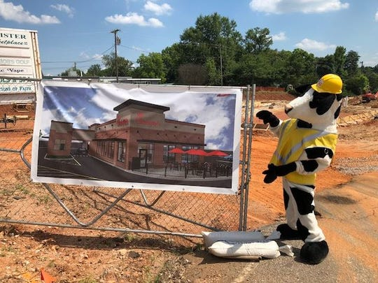 Chick-fil-A Laurens Road is going from drive-thru to full restaurant. The new space open Sept. 2018.