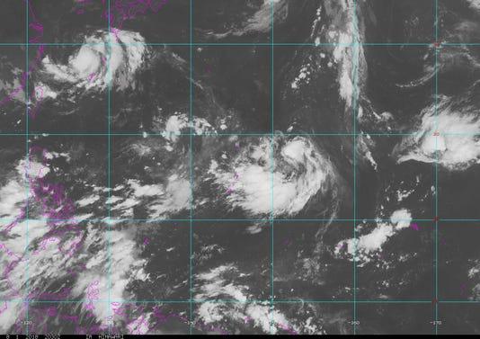 Satellite weather image