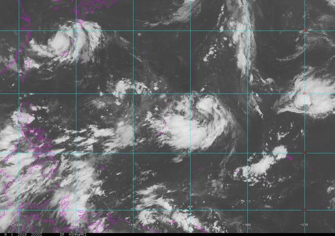 Satellite image Thursday, Aug. 2, 2018.