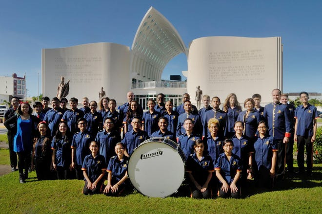 The Guam Territorial Band is shown in front of the Guam Museum in a photo released in July, 2018. New members of all ages are welcome to join anytime throughout the year. The band will travel this month for a friendship, cultural, musical exchange tour of Nagoya, Japan.